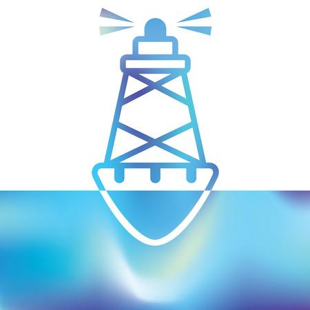 Sea buoys - marine buoy - maritime symbols Illustration
