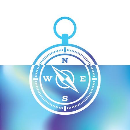 geocaching: Navigation compass - marine Equipment - maritime symbols