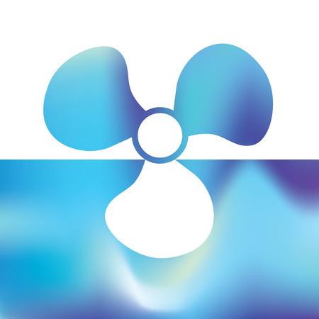 Boat propeller - maritime symbols Illusztráció