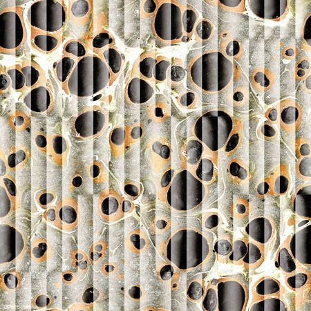 louver boards: Abstract paneling pattern - seamless background - oil paper