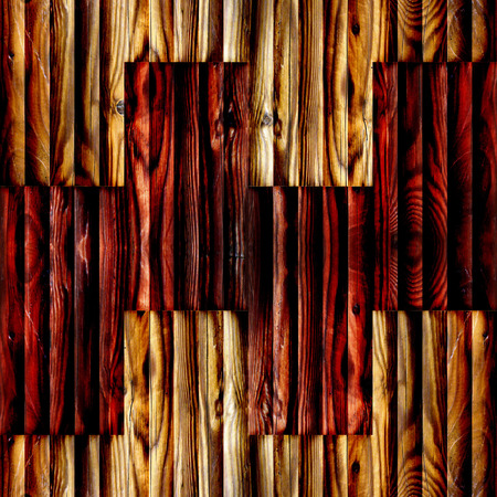 Abstract paneling pattern - seamless background - wooden surface