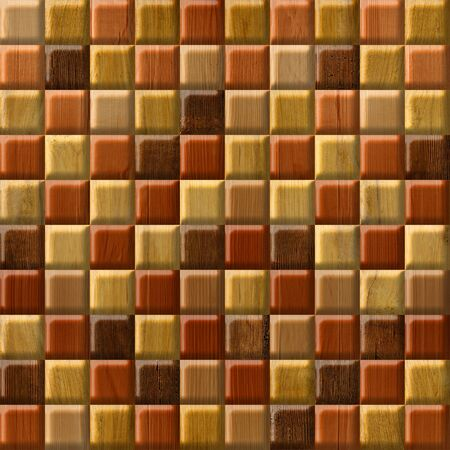 paneling: Abstract checkered pattern - seamless background - wood paneling Stock Photo