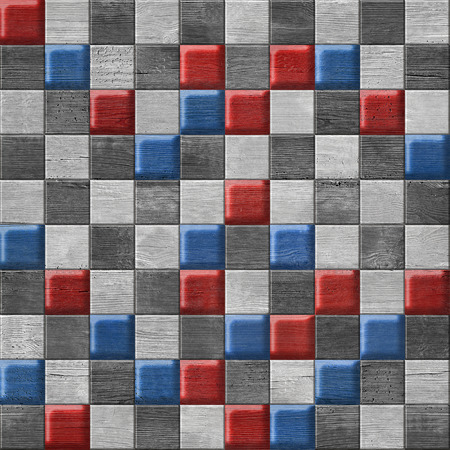 paneling: Abstract paneling pattern - button pattern - national colors Stock Photo