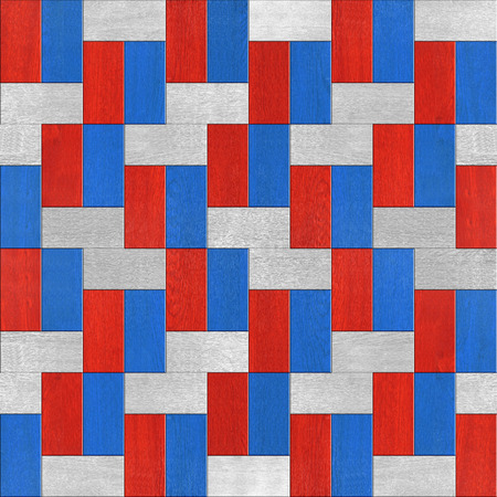 national colors: Abstract paneling pattern - seamless background - red end blue national colors