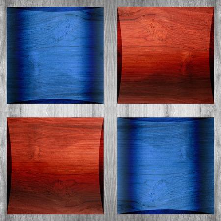 paneling: Wooden coffered paneling - seamless pattern