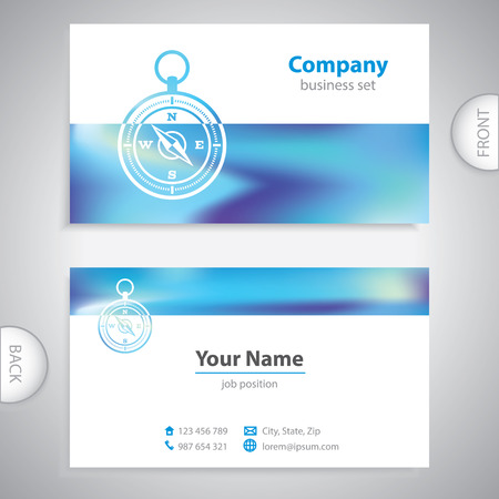 Business card wind rose symbol marine equipment company business card navigation compass maritime symbols company presentations vector colourmoves
