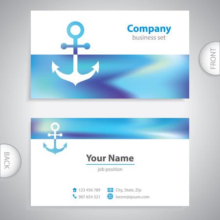 docking: business card - Nautical Anchor - marine Equipment - company presentations