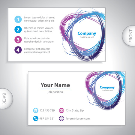 royal blue: business card - recycling mix - environmental variation - royal blue version Illustration