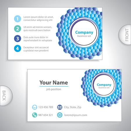 tarjeta de visita - rejilla molecular - la investigación de laboratorio - estructura molecular - versión azul