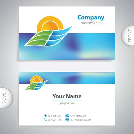 mediterranean homes: business card - symbols of nature - Ecology and Nature