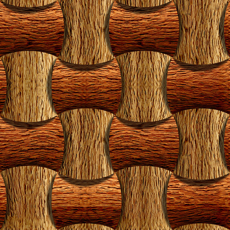 abstract decorative blocks - seamless background - wood surface Banco de Imagens