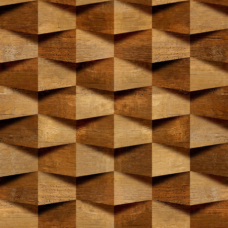 abstract decorative bricks - seamless background - wooden texture