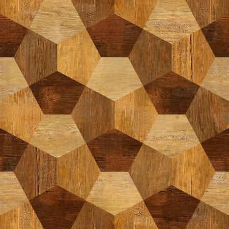 wood blocks: Abstract paneling pattern - seamless pattern - parquet flooring