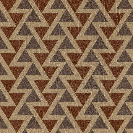 veneer: Abstract triangle pattern - seamless background - leather surface Stock Photo