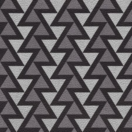 leather texture: Abstract triangle pattern - seamless background - leather texture