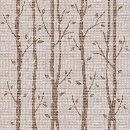 paneling: Abstract decorative trees - seamless background - cloth paneling
