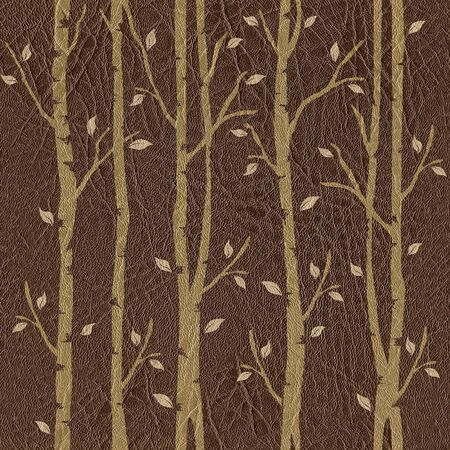 veneer: Abstract decorative pattern - seamless background - leather surface - tree decoration