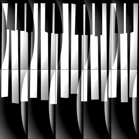 piano: Teclas abstractas musicales de piano - de fondo sin fisuras - fondo monocromo