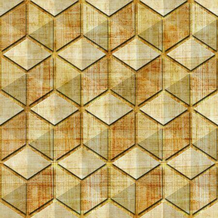 papyrus: Checkered pattern - seamless pattern - papyrus texture Stock Photo