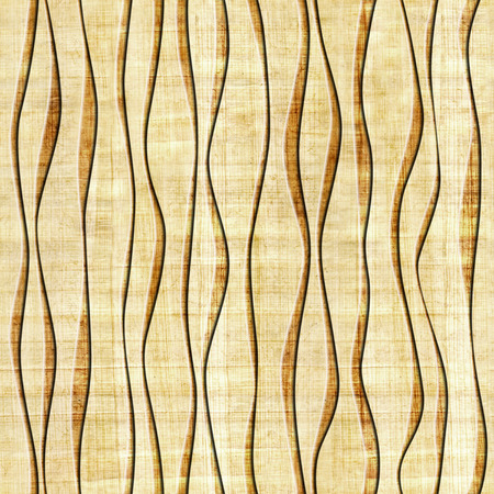 grained: Abstract paneling pattern - seamless pattern - papyrus structure - waves decor