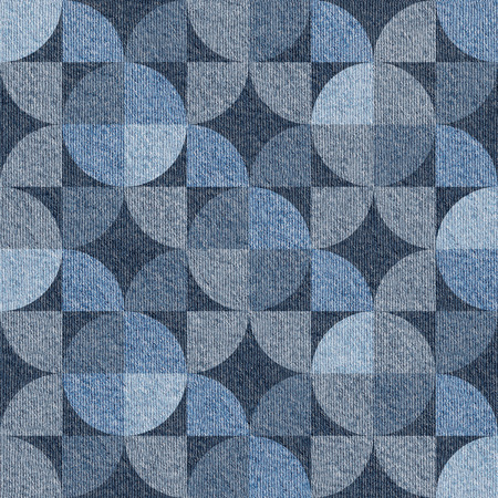Abstract paneling pattern - seamless pattern - blue jeans surface