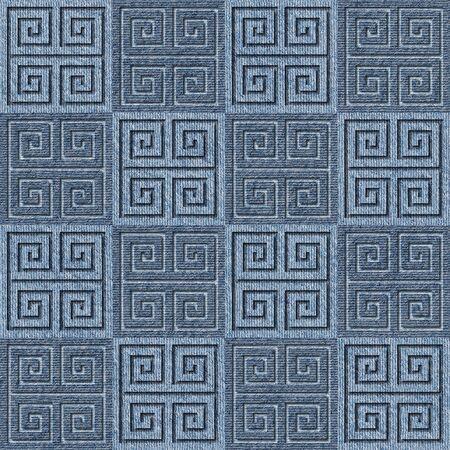 denim jeans: Abstract decorative tiles - seamless pattern - Blue denim jeans
