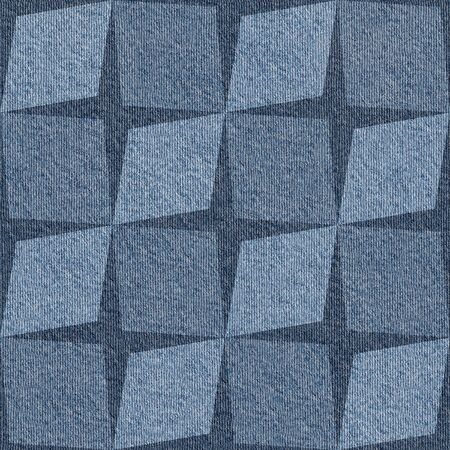 denim jeans: Abstract paneling pattern - seamless pattern - Blue denim jeans