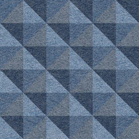 pyramidal: Abstract paneling pattern - seamless pattern - pyramidal pattern - blue jeans textile Stock Photo