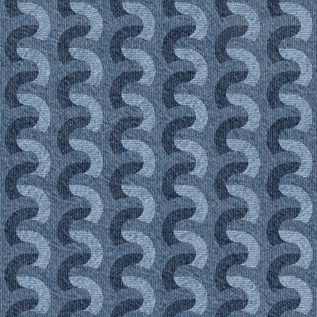 denim jeans: Abstract paneling pattern - seamless pattern - Blue denim jeans - zigzag pattern
