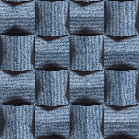 torn jeans: Abstract paneling pattern - seamless pattern - blue jeans texture Stock Photo