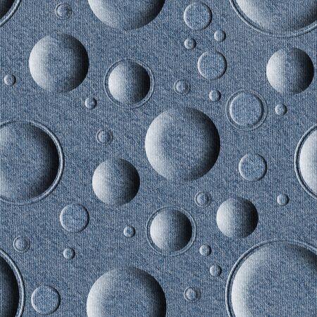 denim jeans: Bubble decorative pattern - seamless pattern - Blue denim jeans