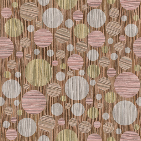 blasted: Abstract circular pattern - different colors - Blasted Oak Groove wood texture