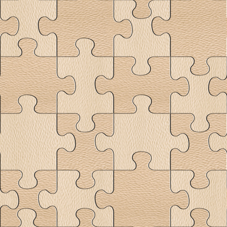 panelling: Wooden puzzles assembled for seamless background - White Oak wood texture Stock Photo