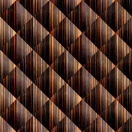 Abstract paneling pattern - seamless background -  - Ebony wood texture Stock Photo