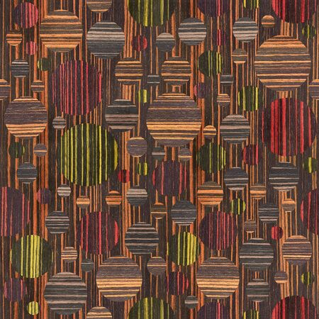 wood paneling: Abstract bubble pattern - different colors - wooden background