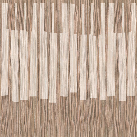 blasted: Abstract musical piano keys - seamless background - Blasted Oak Groove wood texture