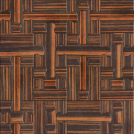 ebony: Wooden puzzles assembled for seamless background - Ebony wood texture