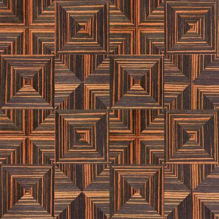 ebony: Abstract triangle pattern - seamless background - Ebony wood texture Stock Photo