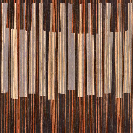 ebony: Abstract musical piano keys - seamless background - Ebony wood texture Stock Photo