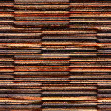 louver boards: Abstract wooden paneling - seamless background - Ebony wood texture Stock Photo