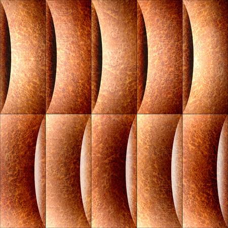 elm: Abstract paneling pattern - waves decoration - Carpathian Elm wood texture