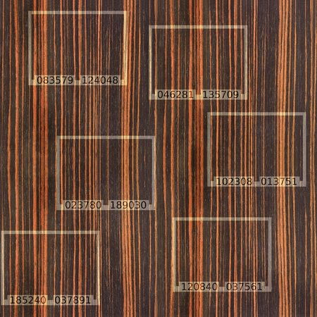 wood paneling: Abstract Ebony wood texture - seamless background -  code label on background Stock Photo