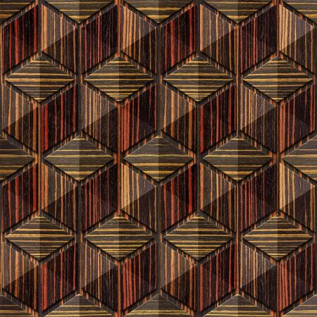 ebony: Abstract checkered pattern - seamless background - Ebony wood texture