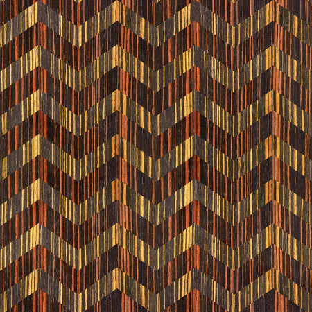 zag: vintage zig zag pattern - seamless background - Ebony wood texture Stock Photo