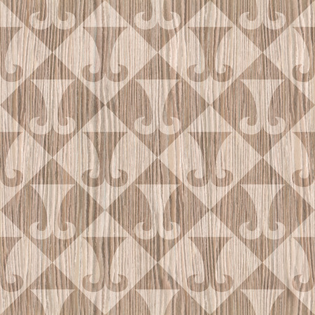 blasted: Abstract paneling pattern - seamless background - hipster symbol - Blasted Oak Groove wood texture Stock Photo