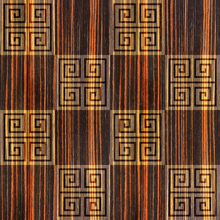 wood paneling: Abstract paneling pattern - seamless background - cassette floor - Ebony wood texture