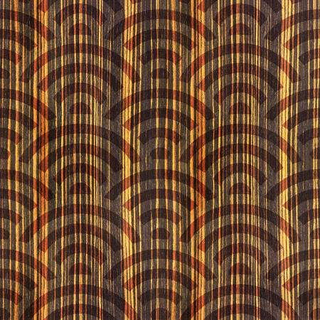 ebony: Abstract arched pattern - seamless background - Ebony wood texture Stock Photo