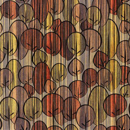 ebony: Decorative trees on seamless background - Ebony wood texture