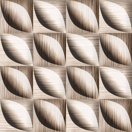 blasted: Abstract decorative tiles - seamless background - Blasted Oak Groove wood texture