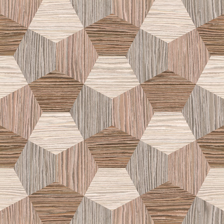 abstract decorative tiles - seamless background - Blasted Oak Groove wood texture
